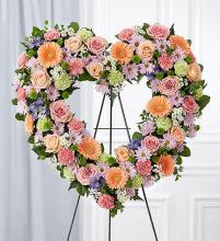 Always Remember™ Floral Heart Tribute- Pastel